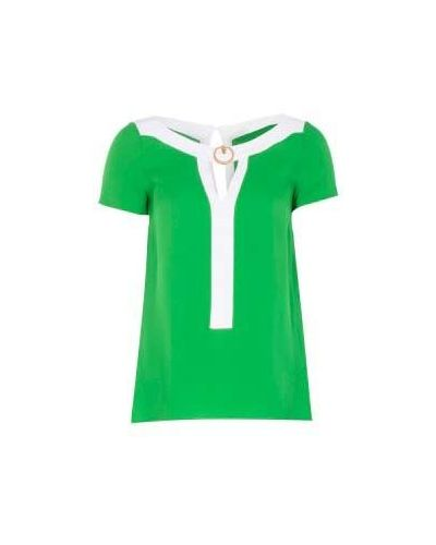 Блузка из вискозы - зеленая Class Cavalli