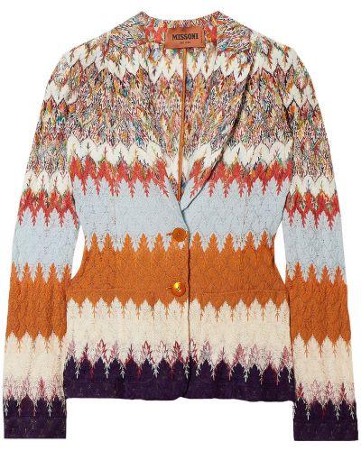 Оранжевый шерстяной пиджак с накладными карманами Missoni