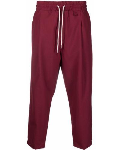 Czerwone spodnie wełniane Drole De Monsieur