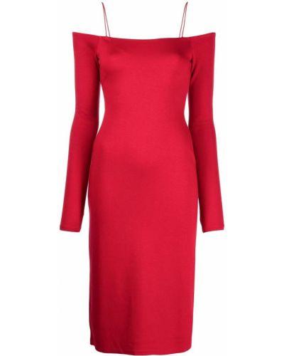 Платье с открытыми плечами - красное Alice+olivia