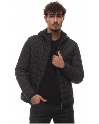 Czarna kurtka pikowana Canali