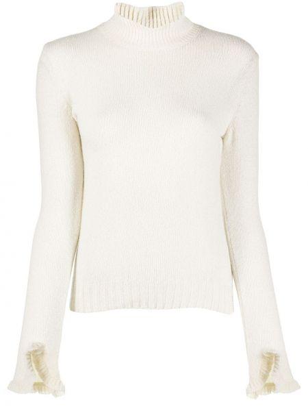Белый шерстяной вязаный длинный свитер Philosophy Di Lorenzo Serafini