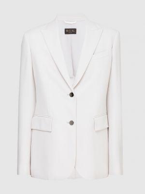 Шерстяной серый пиджак Loro Piana
