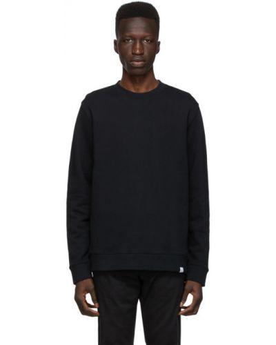 Czarny bluza z długimi rękawami z kołnierzem z mankietami Norse Projects