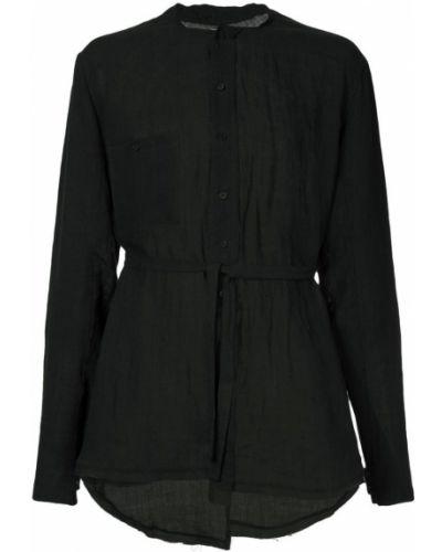 Черная льняная рубашка Aleksandr Manamïs