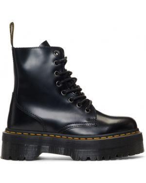Ботинки на платформе черные на шнуровке Dr Martens