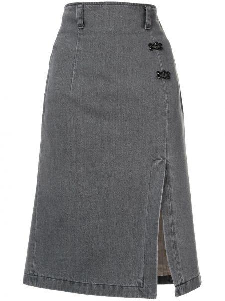 Джинсовая юбка карандаш с завышенной талией Olivier Theyskens