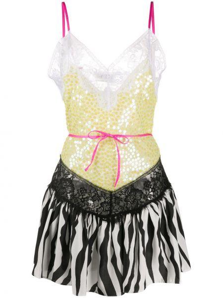 Sukienka koktajlowa z cekinami z jedwabiu The Attico