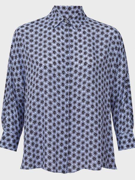 Синяя блузка из вискозы Bagutta