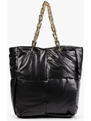 Черная текстильная сумка Vitacci