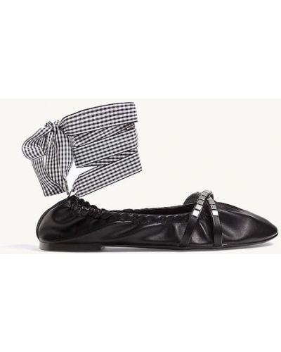 Балетки с круглым носком - черные Stradivarius