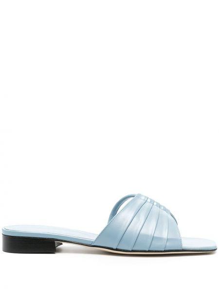 Niebieskie sandały skorzane asymetryczne Dorateymur