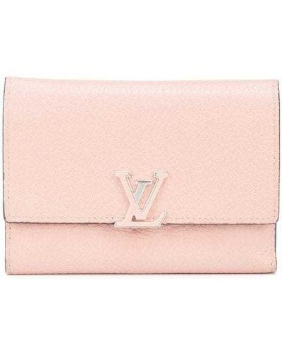Portfel skórzany - różowy Louis Vuitton
