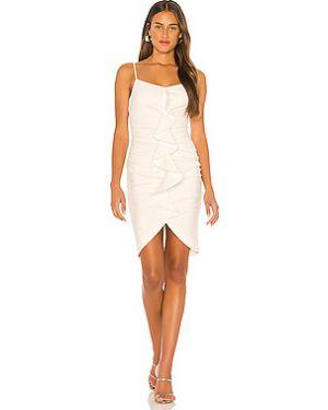 Белое шелковое платье на бретелях на молнии Likely