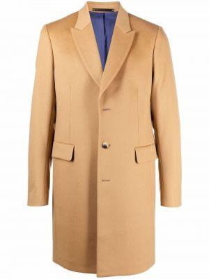 Бежевое длинное пальто Paul Smith