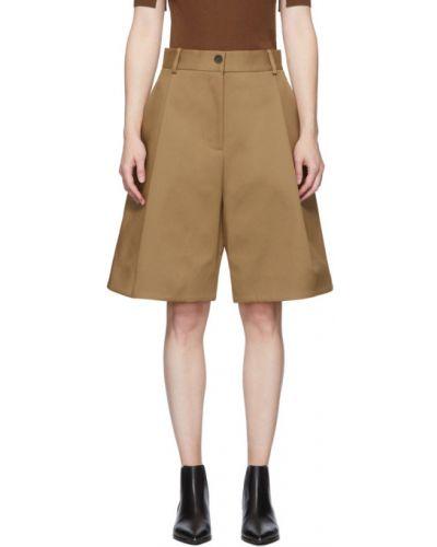 Хлопковые однобортные шорты с карманами Studio Nicholson