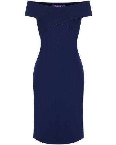 Платье с открытыми плечами приталенное Ralph Lauren