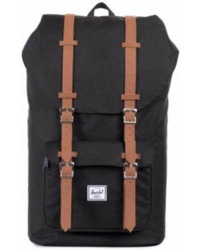 Czarny plecak elegancki w paski Herschel