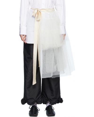 Асимметричная нейлоновая белая юбка-пачка Simone Rocha