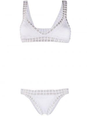 Пляжные нейлоновые белые бикини с вырезом Kiini