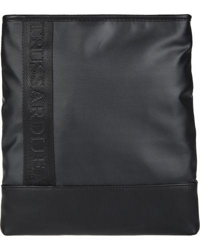 Кожаная сумка текстильная на молнии Trussardi Jeans