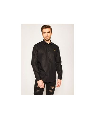Czarna koszula bawełniana Mcq Alexander Mcqueen