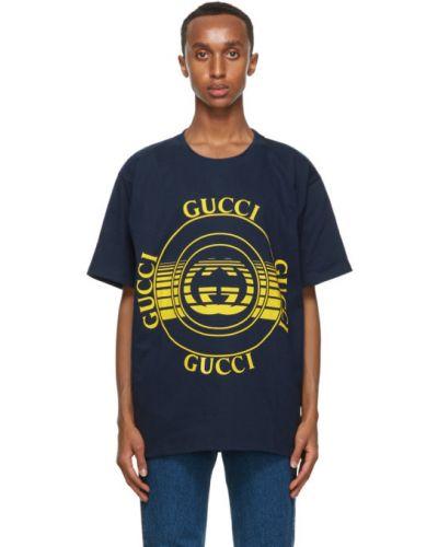 Bawełna żółty koszula krótkie z krótkim rękawem krótkie rękawy z kołnierzem Gucci
