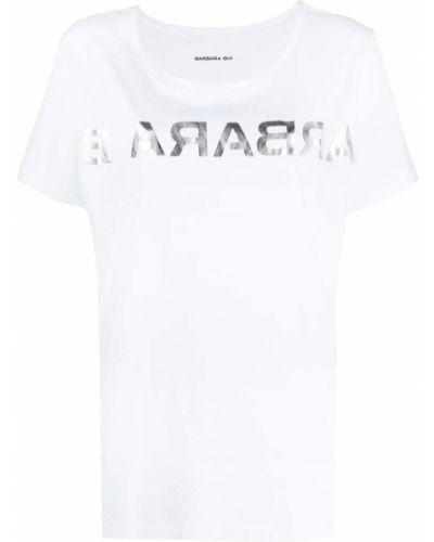 Biały t-shirt bawełniany krótki rękaw Barbara Bui