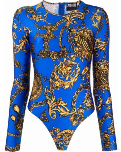 Złoty body - niebieski Versace Jeans Couture
