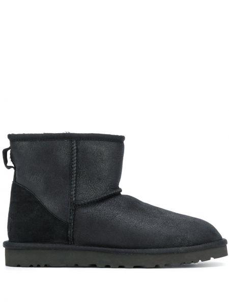 Czarne ankle boots skorzane Ugg Australia