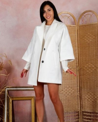 Кашемировое пальто - белое G&m