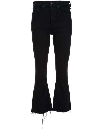 Укороченные джинсы расклешенные черные Rag & Bone/jean