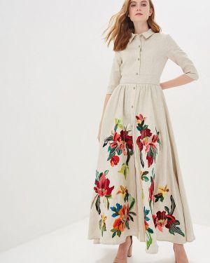 Летнее платье бежевое Yukostyle
