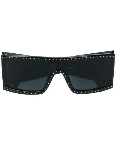 Солнцезащитные очки для зрения кожаные Moschino Eyewear