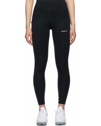 Czarne legginsy sportowe z nylonu Misbhv