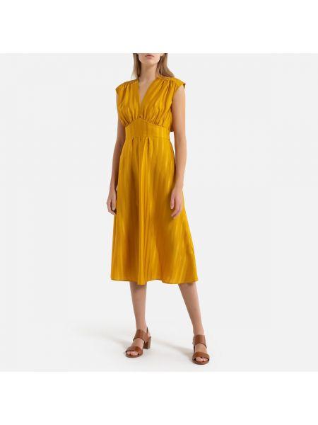 Платье мини миди с декольте La Redoute