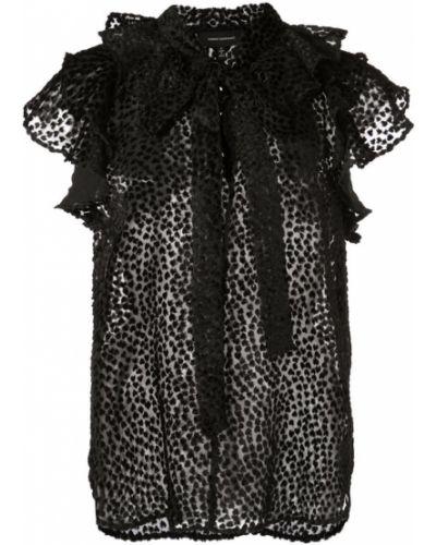 Черная блузка без рукавов прозрачная без рукавов Robert Rodriguez Studio