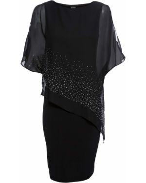 Облегающее платье шифоновое с пайетками Bonprix