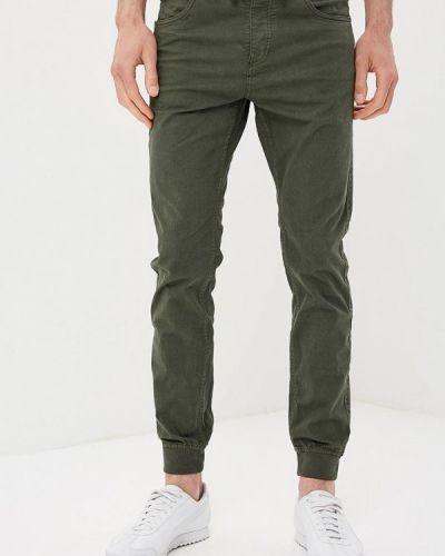 Зауженные брюки чиносы зеленый Fresh Brand