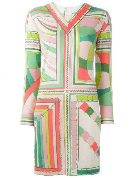 Приталенное платье винтажное на молнии Emilio Pucci Pre-owned