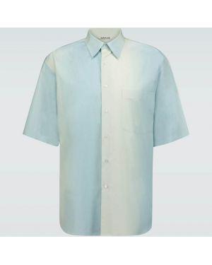 Koszula krótkie z krótkim rękawem klasyczna zapinane na guziki Auralee
