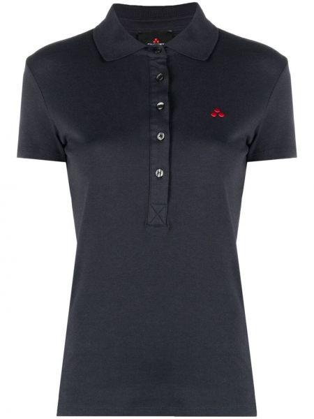 Синяя рубашка с короткими рукавами с воротником Peuterey