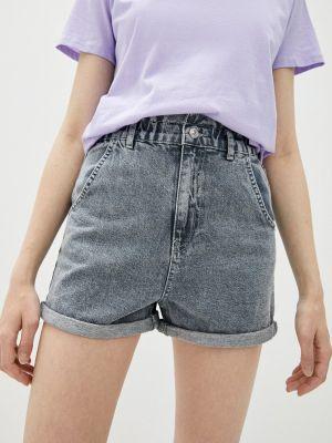 Серые джинсовые шорты Defacto