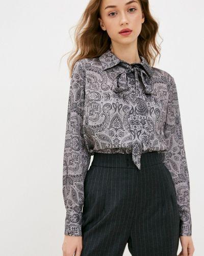 Серая блузка с длинным рукавом с длинными рукавами Lusio