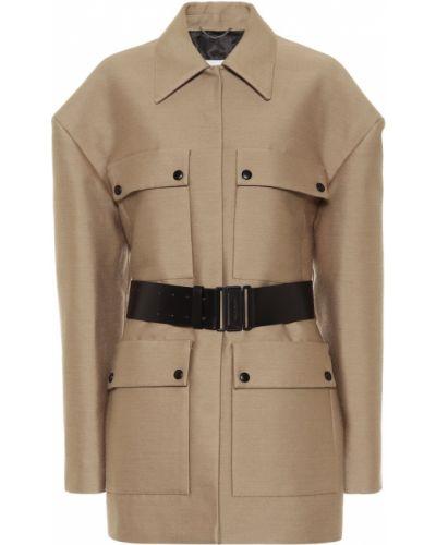 Ватное шерстяное бежевое пальто Magda Butrym
