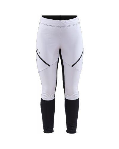 Зауженные белые брюки для бега Craft