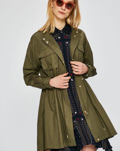 Утепленная куртка прямая в полоску Only