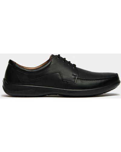 Черные кожаные полуботинки на шнуровке Ralf Ringer
