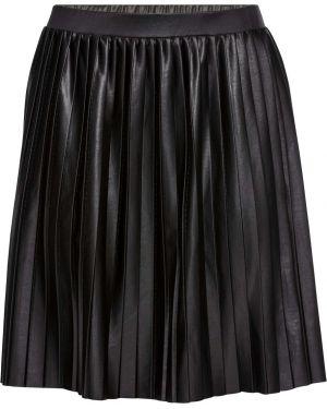 Плиссированная юбка черная большой Bonprix