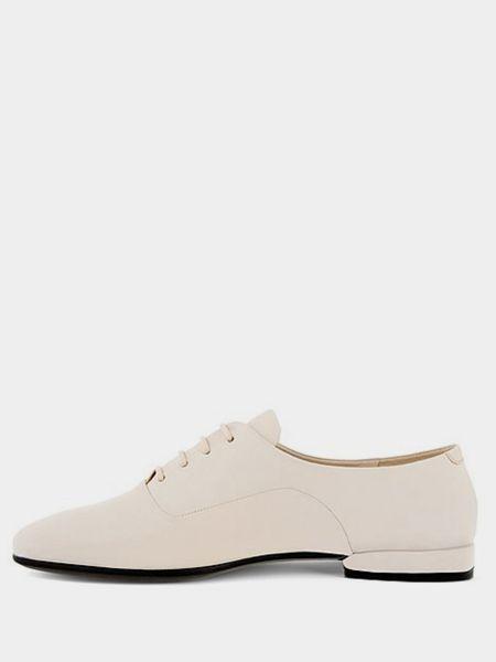 Кожаные бежевые туфли на каблуке Ecco